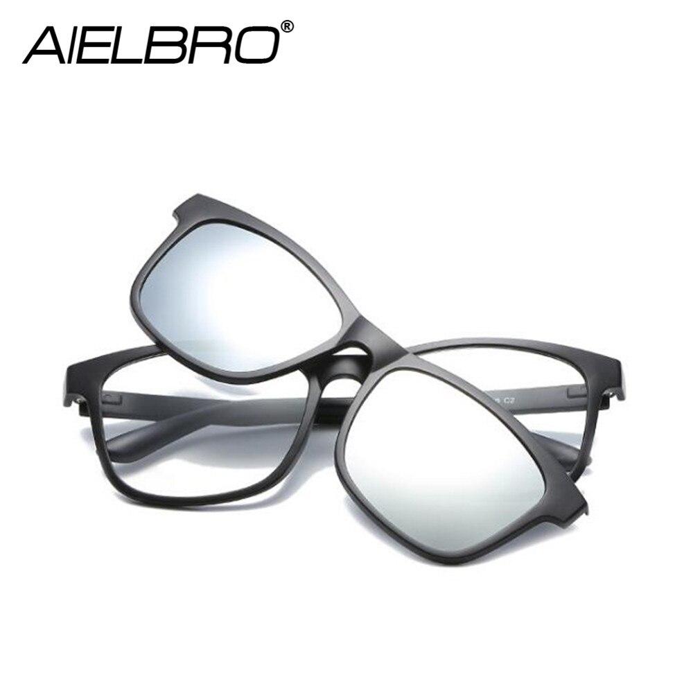 Magnetic Eyeglasses Frame Women Fashion Frames Clips Polarized Lens Sunglasses Magnet Eyeglasses Men Driving Glasses