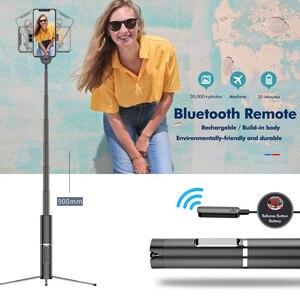 Image 3 - Bonola Draagbare Geïntegreerde Statief Selfie Stok Verborgen Telefoon Beugel Bluetooth Knop Telefoon Zelfontspanner Hendel Houder Voor Telefoon