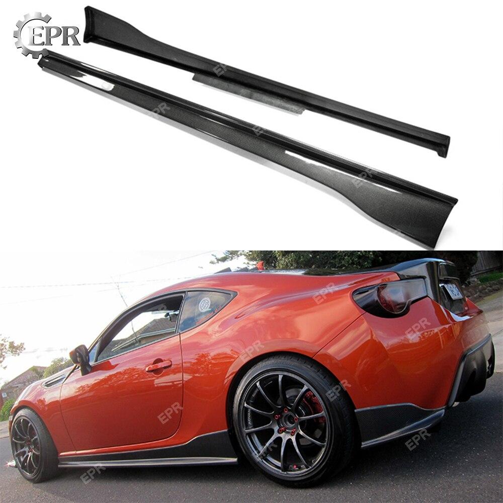 Falda lateral FRP para BRZ FT86 vórtice estilo vidrio/fibra de carbono falda lateral cuerpo Kit Tuning para FT86 BR-Z de parte