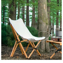 Butterfly barbecue Chair Fold Bench Chaise Canvas stool Leisure wooden ins chair Camping chair OUtdoor beach chair