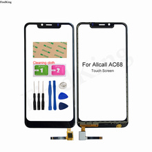 Mobile Touch Screen For Allcall AC68 Touch Screen Front Glass TouchScreen Digitizer Panel Sensor Lens Replacemet Part Adhesive