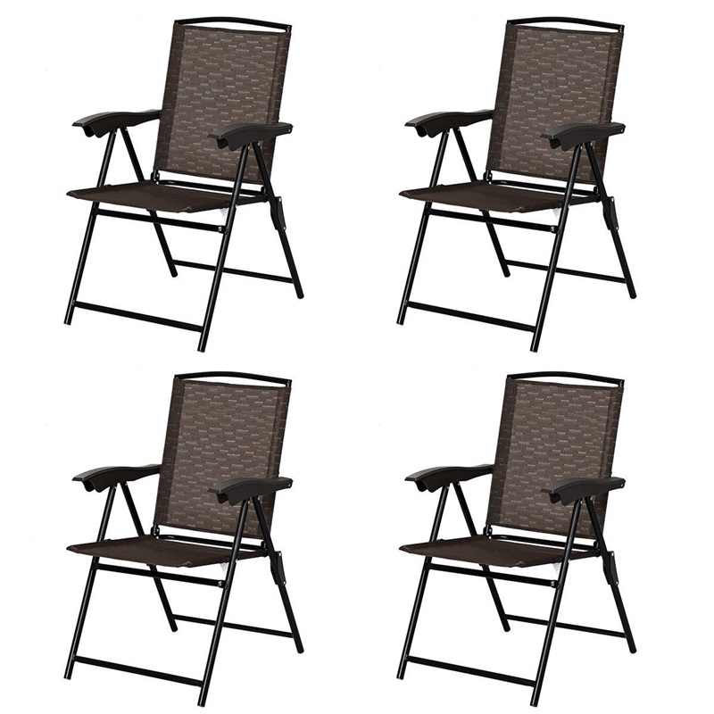 4 pcs folding sling chairs with steel