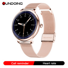 RUNDOING NY12 Élégant femmes montre intelligente Écran Rond smartwatch pour Fille Moniteur de fréquence cardiaque compatible Pour Android et IOS
