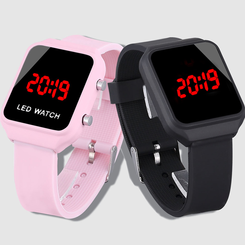 Fashion Led Watch Digital Wristwatch Pink Watch Silicone Children Watches For Boys Reloj Ni O Kids Watches Girl Electronic Clock