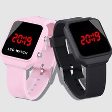 Fashion Led Watch Digital Wristwatch Pink Watch Silicone Chi