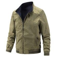 Куртка Wingslove Мужская на молнии, Повседневная ветровка с длинным рукавом, размер L XL, весна-осень