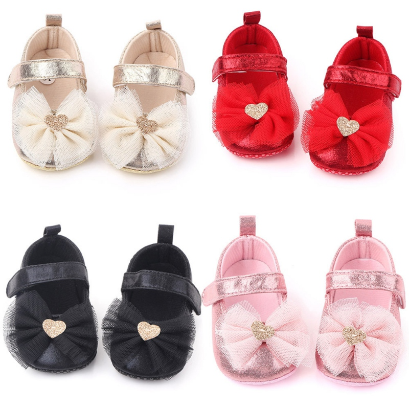 2020 First Walkers Baby Girls Shoes Spring Infant Girls Indoor Soft-Soled Star Princess Shoes Baby Walking Shoes