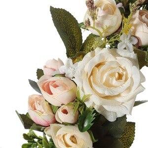 Image 5 - Adeeing clássico simulação artificial flores garland para casa sala de jardim decoração lintel