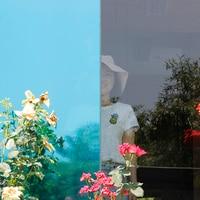 HOHOFILM 1.52x20m Blue&Silver Mirrored Window Film Solar tint Glass Sticker UV Proof Window Tint Reflective 60''x65.6ft Roll