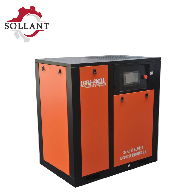 sollant screw air compressor?11kw air compressor?Sandblasting can be used, connected with pneumatic tools, small air compressor