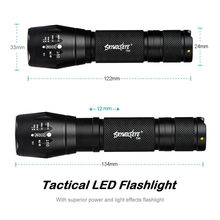 1pc Tactical LED Taschenlampe G700 SkyWolfeye X800 Zoom Super Helle Military Grade Sky Wolf Auge Outdoor Wandern(China)