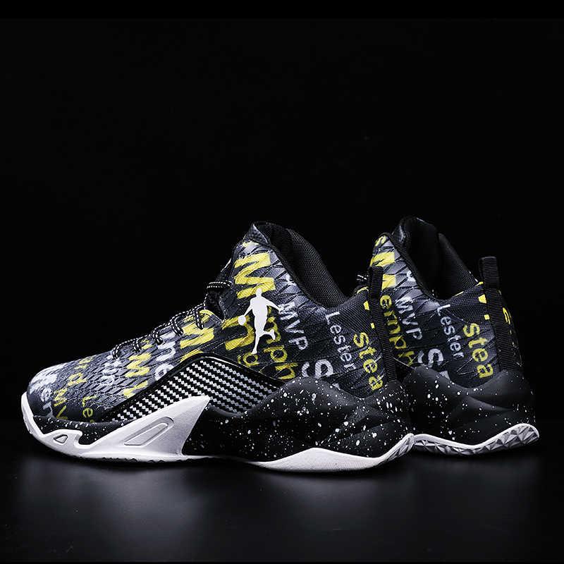 2020 Mới Nam Cao-TOP Jordan Giày Bóng Rổ Nam Đệm Ánh Sáng Bóng Rổ Giày Chống Trượt Thoáng Khí Thể Thao Ngoài Trời giày