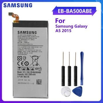 цена на SAMSUNG Original Replacement Battery EB-BA500ABE For Samsung GALAXY A5 2015 Authentic Phone Battery EB-BA500ABE 2300mAh