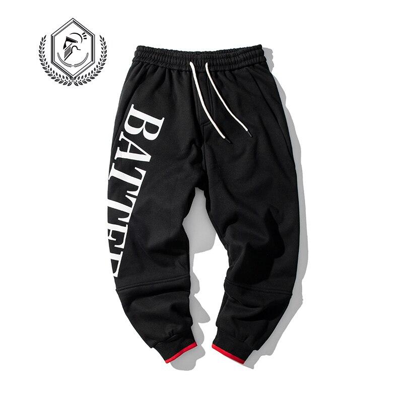 Men Fashion Loose Print Harem Jogger Pants Patchwork Casual Ankle-Length Hip Hop Pants