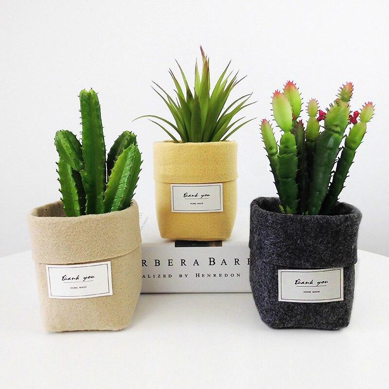 Сумка для выращивания растений, новые украшения для дома, настольная Цветочная корзина, мясистый войлочный горшок, утолщенный садовый