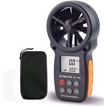 Цифровой анемометр btmeter с ЖК дисплеем ручной измеритель скорости
