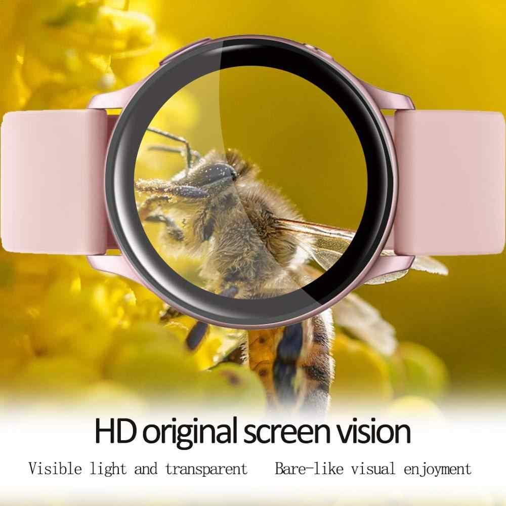 Vidro para samsung galaxy assistir ativo 2 44mm 40mm/46mm/42mm engrenagem s3 fronteira/s2/esporte 3d hd filme protetor de tela cheia active2