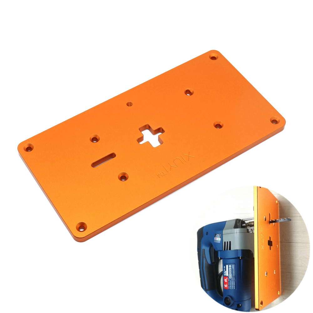 Electric Jig Saw Flip Board Router Table Insert Plate for Jig Saw Work Benches