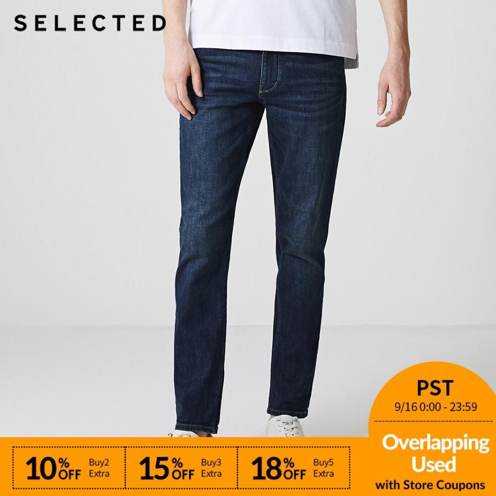 SELECTED Men   Jeans   Lycra Slight Stretch Vintage Slim Autumn & Winter Fit Denim Pants Streetwear Moustache Effect S 418332532