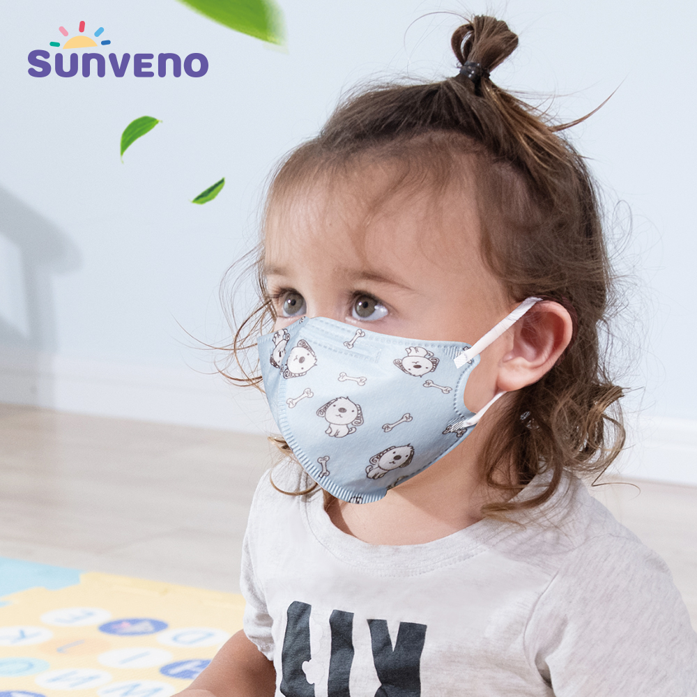 5pcs/set Children Kids Mouth Face Mask Respiratory Valve Cartoon Thicken Smog Mask Warm Dust Mask Fits 3-8 Years Old Kids