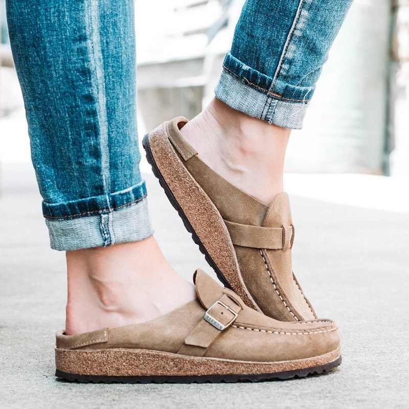 Dropshipping 2020 Baru Wanita Flats Sepatu Musim Panas Sepatu Wanita Retro Kulit Datar Sepatu Nyaman Wanita Sepatu Flat Wanita