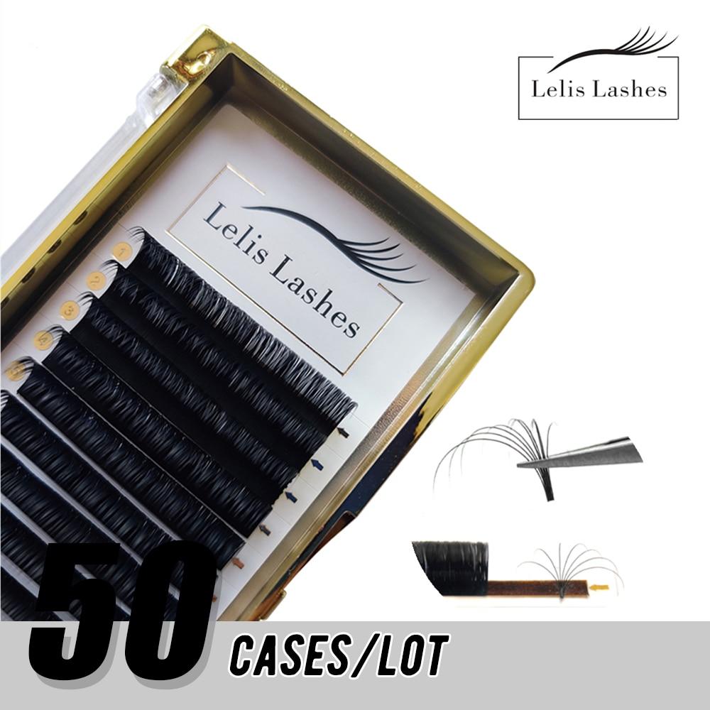 Легкая дуя накладные ресницы для наращивания 50 чехол/в партии, для детей от 8 до 16 мм быстро Цветущий 2d-20d дуя ресницы для наращивания макияж