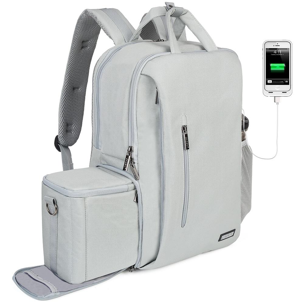 Caja de lente de cámara Mochila Bolso Impermeable Mochila para DSLR Canon Nikon Sony