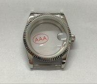 36mm Hohe qualität Sapphire kristall 316L edelstahl uhr cases fit ETA2824 2836 8215 Automatische bewegung bk31-8