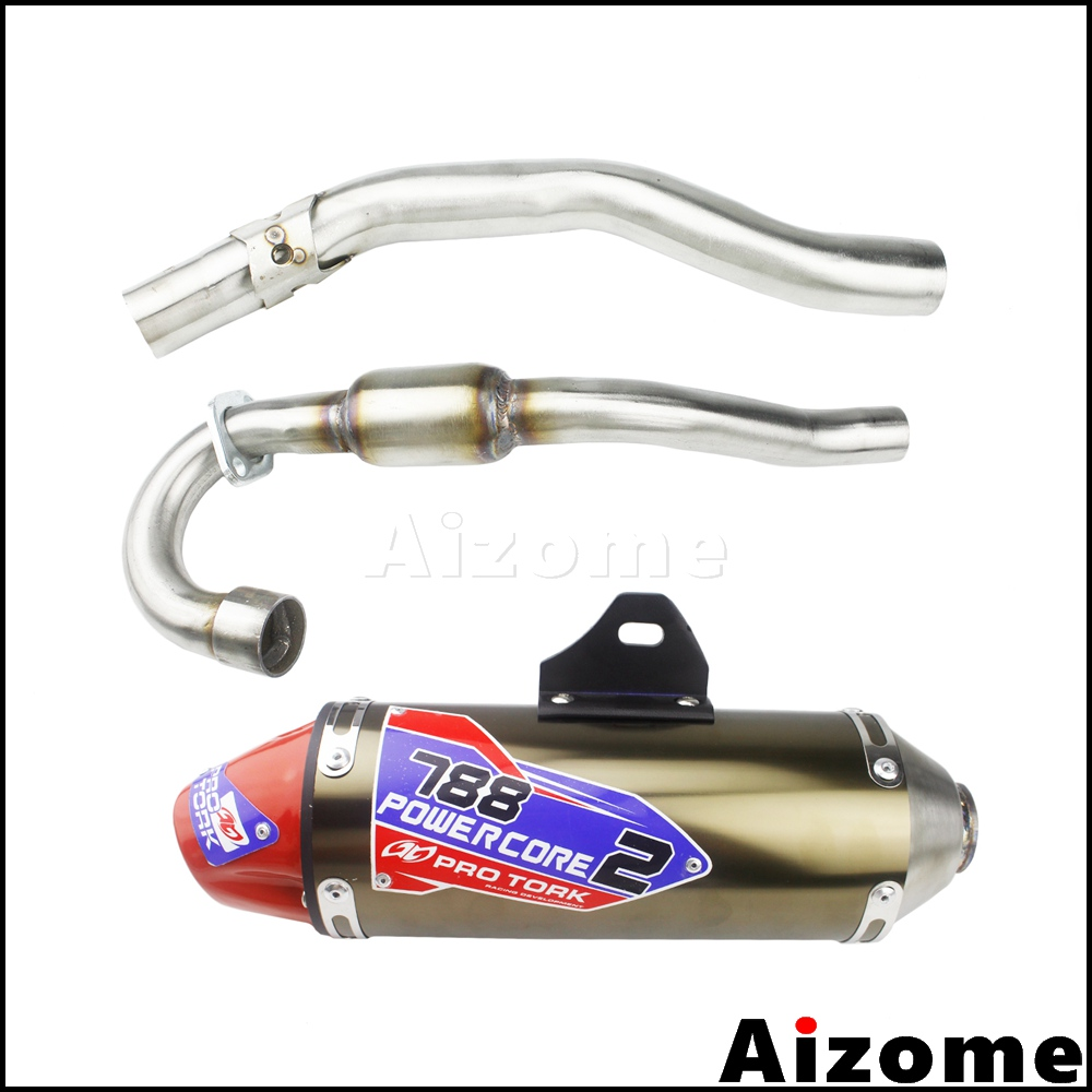 Motocross CRF150 CRF230 Complete Exhaust Muffler Pipes Dirt Bike Exhaust Pipe Full System For Honda CRF150F CRF230F 2003-2016