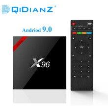DQiDianZ yeni Android 9.0 X96 akıllı TV kutusu S905W dört çekirdekli 2.4G kablosuz WIFI Set Top BOX medya X96W