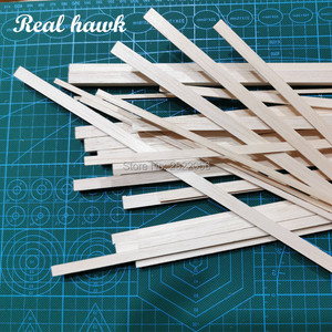 50pcs 200 mm length 3 mm thickness width 4/5/6/7/8/9/10 mm wood strip AAA+ Balsa Wood Sticks Strips for airplane/boat model DIY