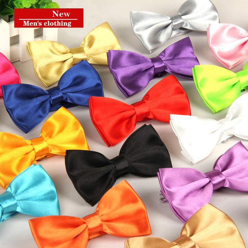 Fashion Men Bowtie Luxury Butterfly Party Wedding Bow Tie For Boys Girls Black Red Yellow Solid Color Pattern Accessorie Necktie