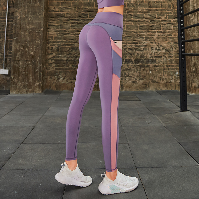 Slim Tight Sportswear Women Workout Out Pocket Leggings Fitness Sports Gym Running Yoga Athletic Pants Elasticized waistband 1