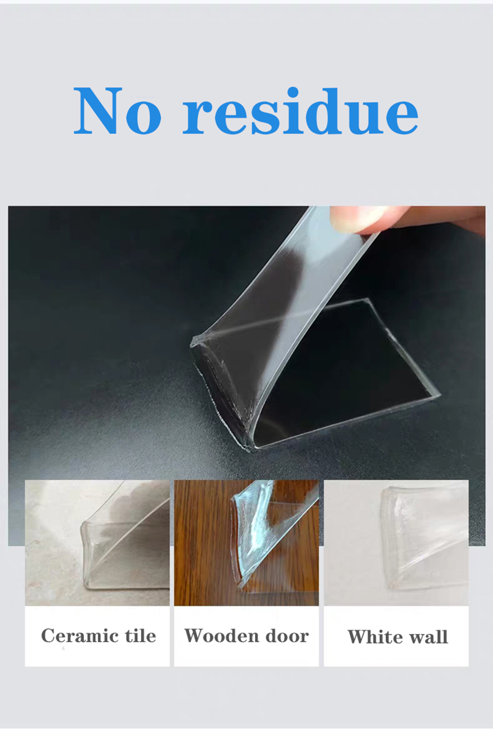 Transparent Non-marking Nano Double-sided Tape Reusable Waterproof Tape