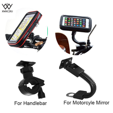 XMXCZKJ Universal Bicycle  Motorcycle Mobile Phone Holder For handlebar Rearview Mirror Stand Mount Scooter Accessories
