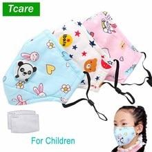 Tcare PM2.5 الأطفال الفم قناع صمام التنفس الكرتون الباندا قناع دافئ قناع الوجه يناسب 3 15 سنة الاطفال