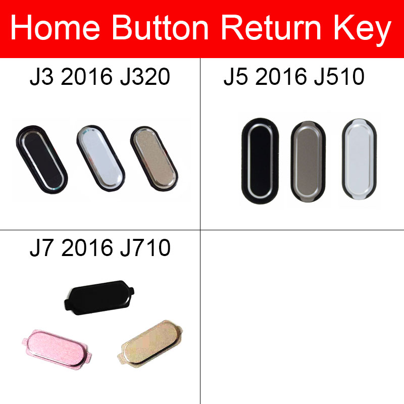 Home Button For Samsung Galaxy J3 J5 J7 2016 J320 J510 J710 Menu Return Key Back Recognition Button Flex Cable Repair Parts