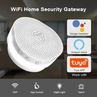 KERUI Tuya puerta de enlace multifuncional WIFI seguridad del hogar sistema de alarma inteligente funciona con Google asistente/Alexa Control