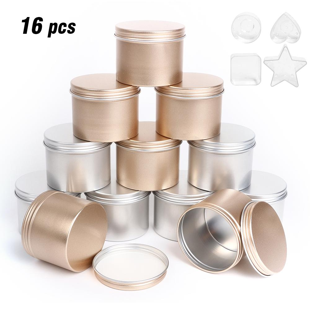 Luxury Candle Jars With Lid Bulk Round Candle Container Tins Empty Storage Box For DIY Salves Skin Care Beauty Samples