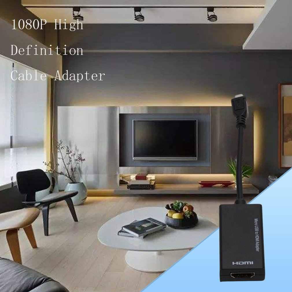 MHL Micro USB untuk HDMI 1080P HD TV Kabel Adaptor untuk Android Ponsel Tablet Adaptor
