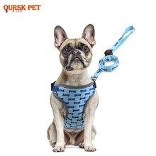 LED Nylon Pet Dog Cat Harness Led Flashing Light Harness Collar Pet Safety Led Leash Rope Belt Dog Accessories adjustable 2 mode led flashing dog collar belt orange