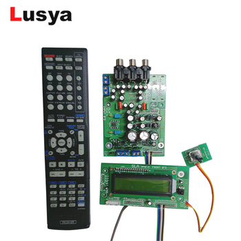 HiFi Infrared Remote Control Volume Control Adjust audio Amplifier Preamp Board Input Selection Tone Board With Display T0914