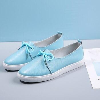 цена на AARDIMI Women Loafers Genuine Leather Ladies Flat Shoes Ballet Flats Woman Causal Shoes Nurse Shoes Woman Platform Women Flats