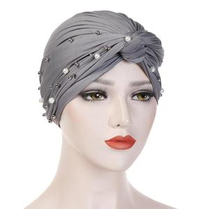 Image 4 - muslim cotton turban hijab bonnet arab wrap head turbans for women indian african turbans Twist headband turbante mujer