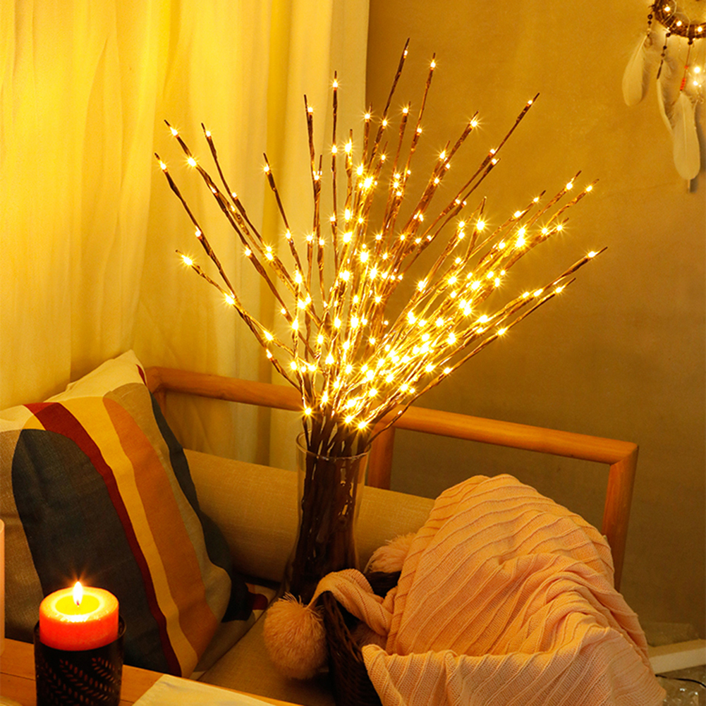 New Flexible LED Branch Light Warm White 20 Lights Branches String Light Home Party Wedding Cafe Shop Decor Lights Dropship