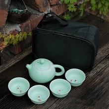 Chinese Travel Kung Fu Tea Set Gaiwan Tea Cups of Tea Ceremony Tea Pot Ceramic Portable Teapot Porcelain Teaset Free shipping стоимость