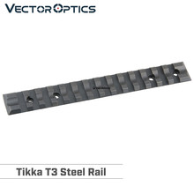 Tikka t3 picatinny trilho escopo montagem 20mm tecelão aço