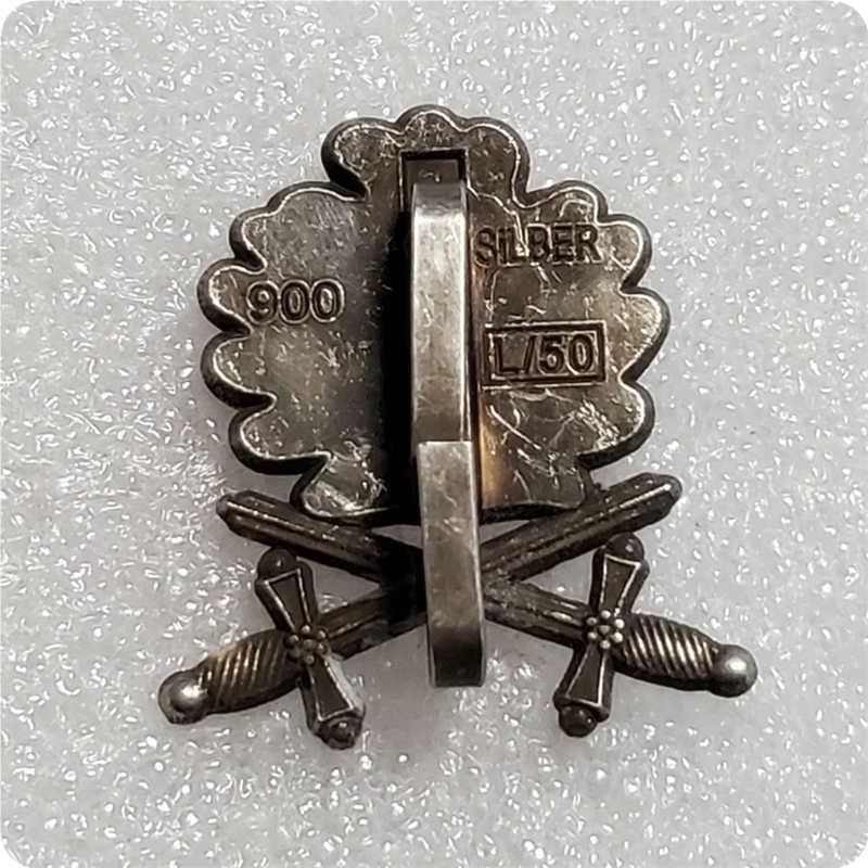 Antique Silver Oak ใบ PIN ดาบเข็มกลัด Badge เยอรมนีผู้ชายเครื่องประดับ Patriot ของขวัญเสื้อแจ็คเก็ตอุปกรณ์เสริม