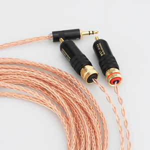 Image 4 - Yüksek kalite 2 rca 3.5MM hifi 1 ila 2 ses video kablosu OFC saf bakır ses kablosu
