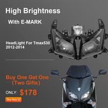 Pour Tmax530 phare de moto pour Yamaha TMAX 530 phare avant pour T MAX530 2012 2013 2014 assemblage lampe phare remplacer